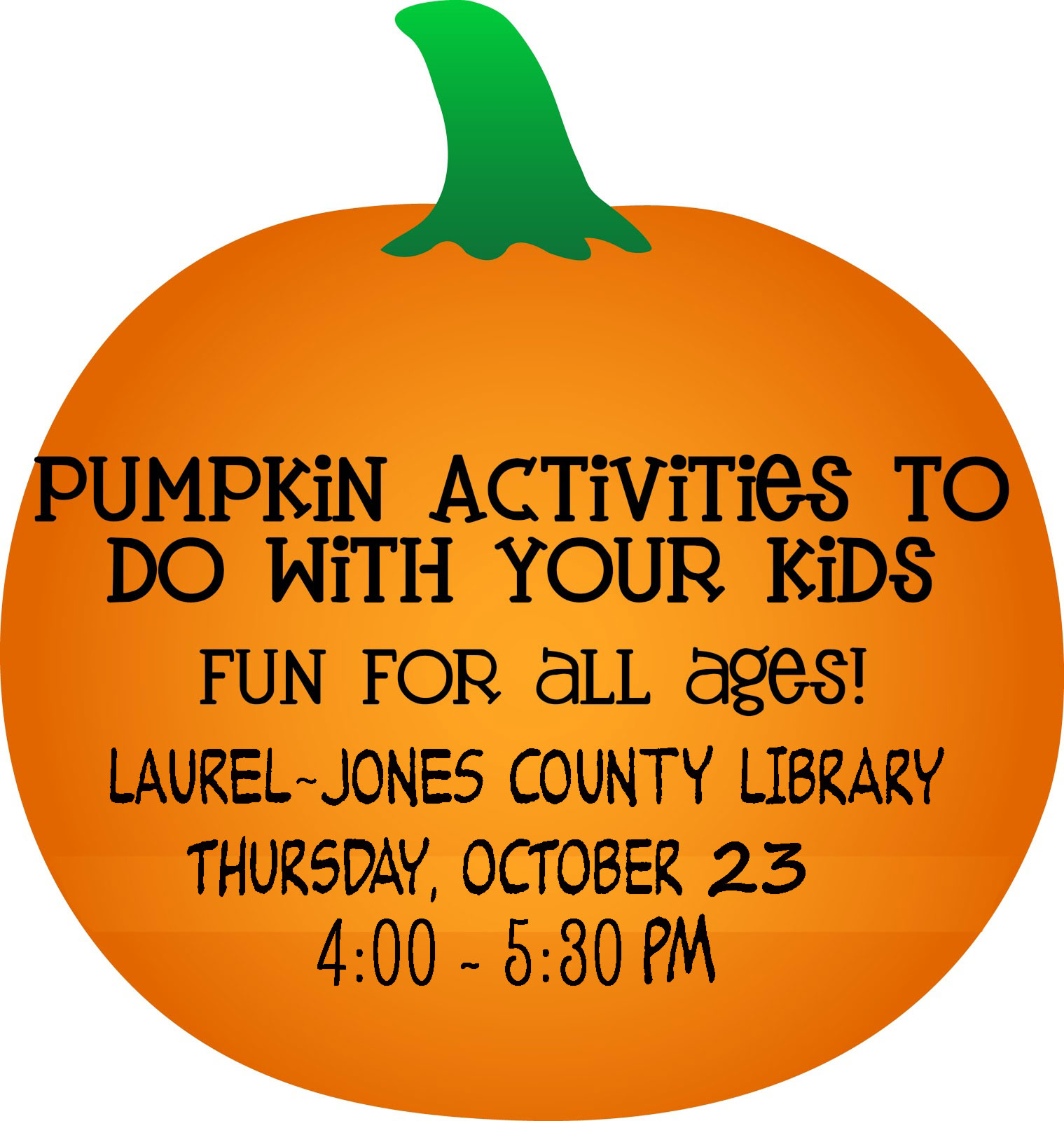 The City of Laurel, Pumpkin Fun Day