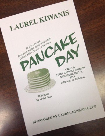 The City of Laurel, Kiwanis Pancake Day