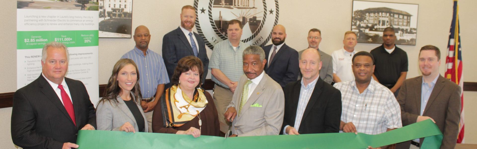 Ribbon cutting for Renew: Laurel Energy Initiatvie