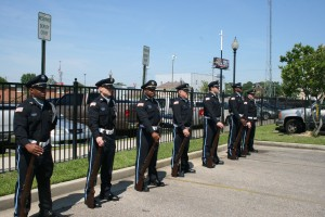 Color Guard at Police Officers' Memorial Ceremony in 2013.