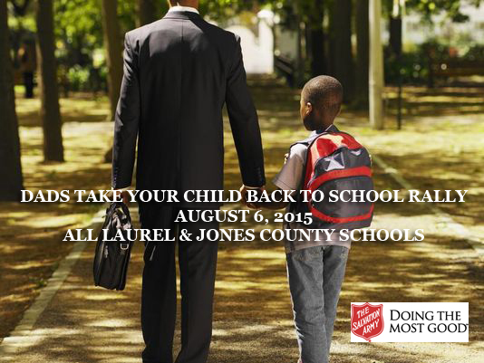 The City of Laurel, Dads Take Kids Back to School