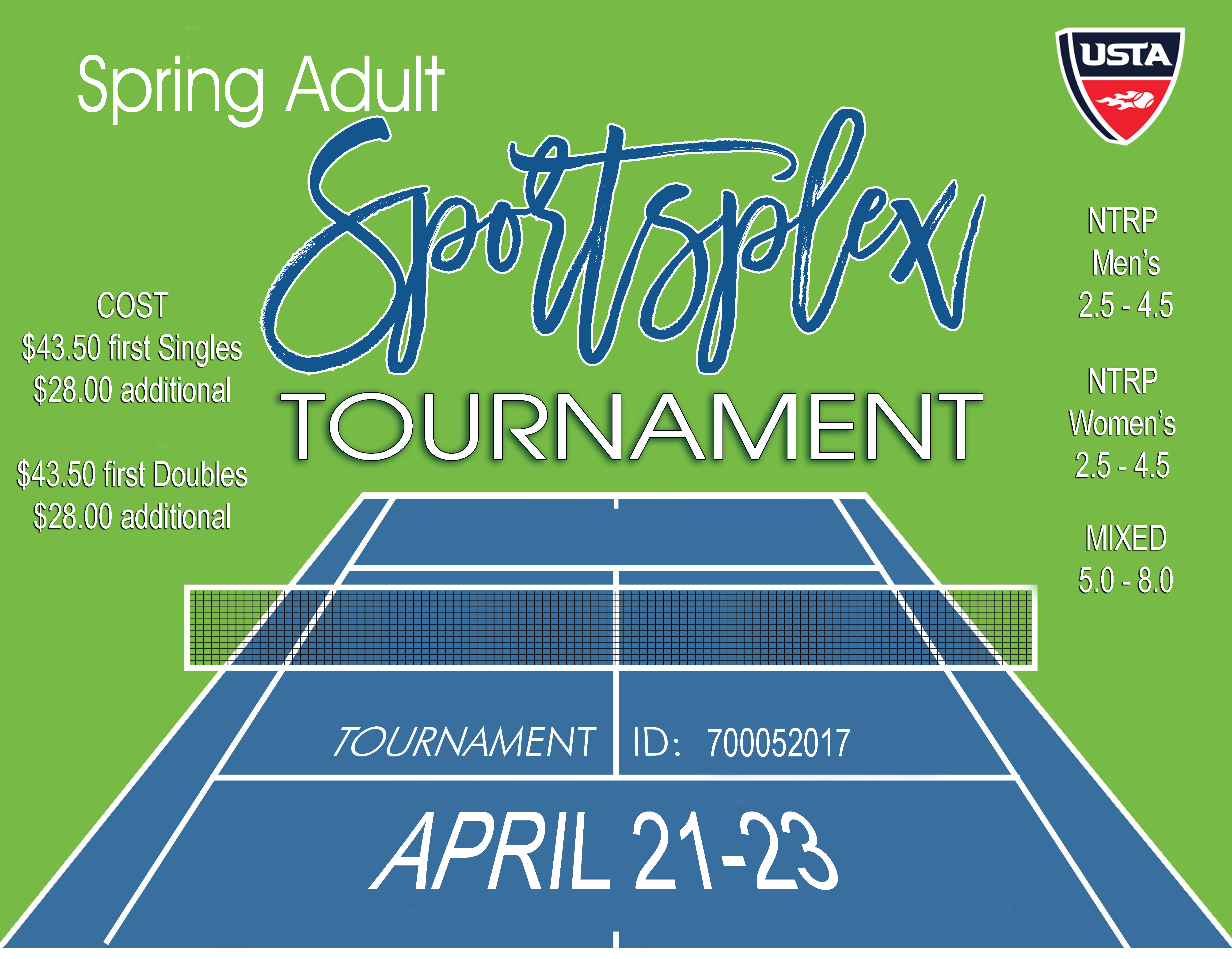 The City of Laurel, Spring Adult Tennis Tournament