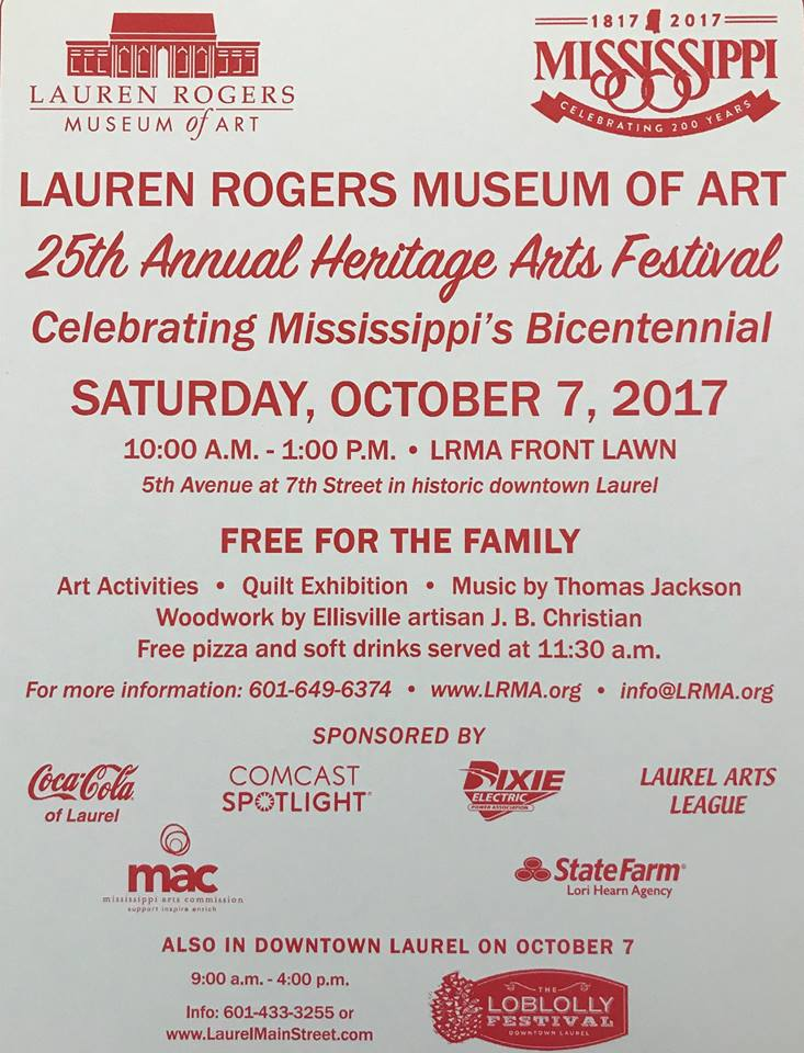 The City of Laurel, 25th Annual Heritage Arts Festival