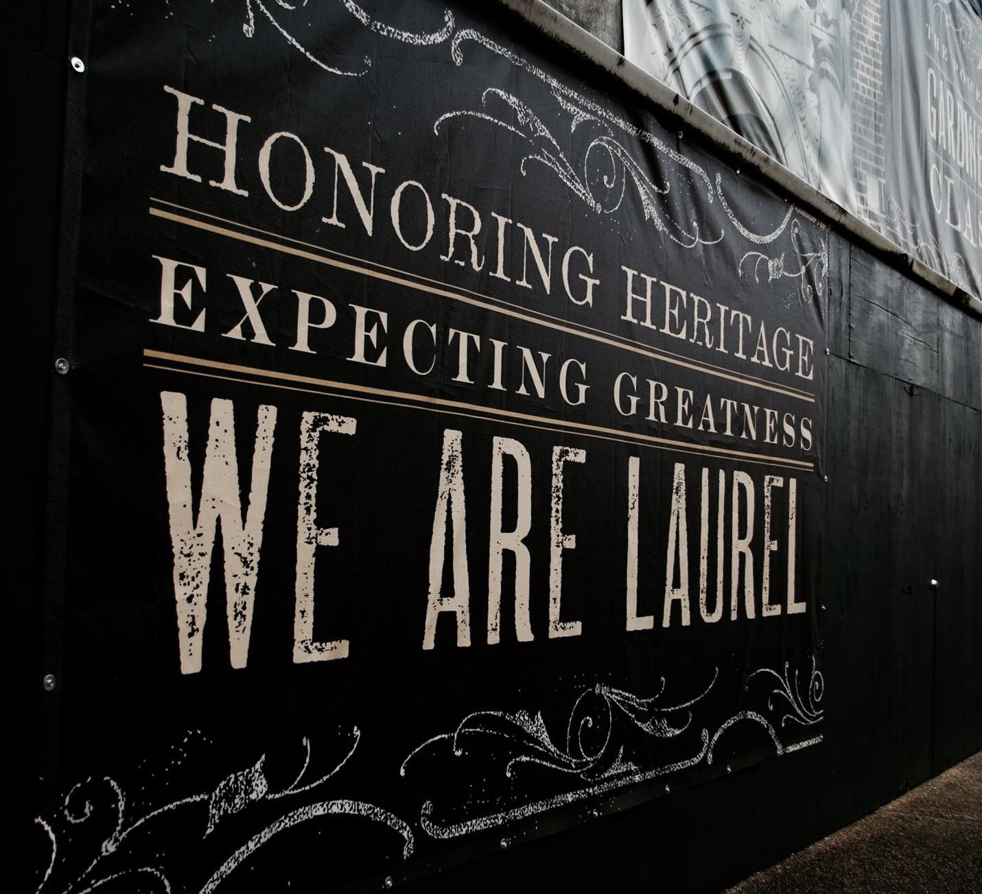 We Are Laurel banner - Wamble building