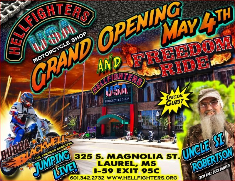 The City of Laurel, Hellfighters USA   Grand Opening & Freedom Ride