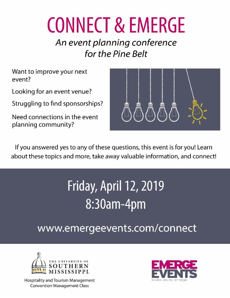 The City of Laurel, Connect & Emerge An Event Planning Conference for the Pine Belt