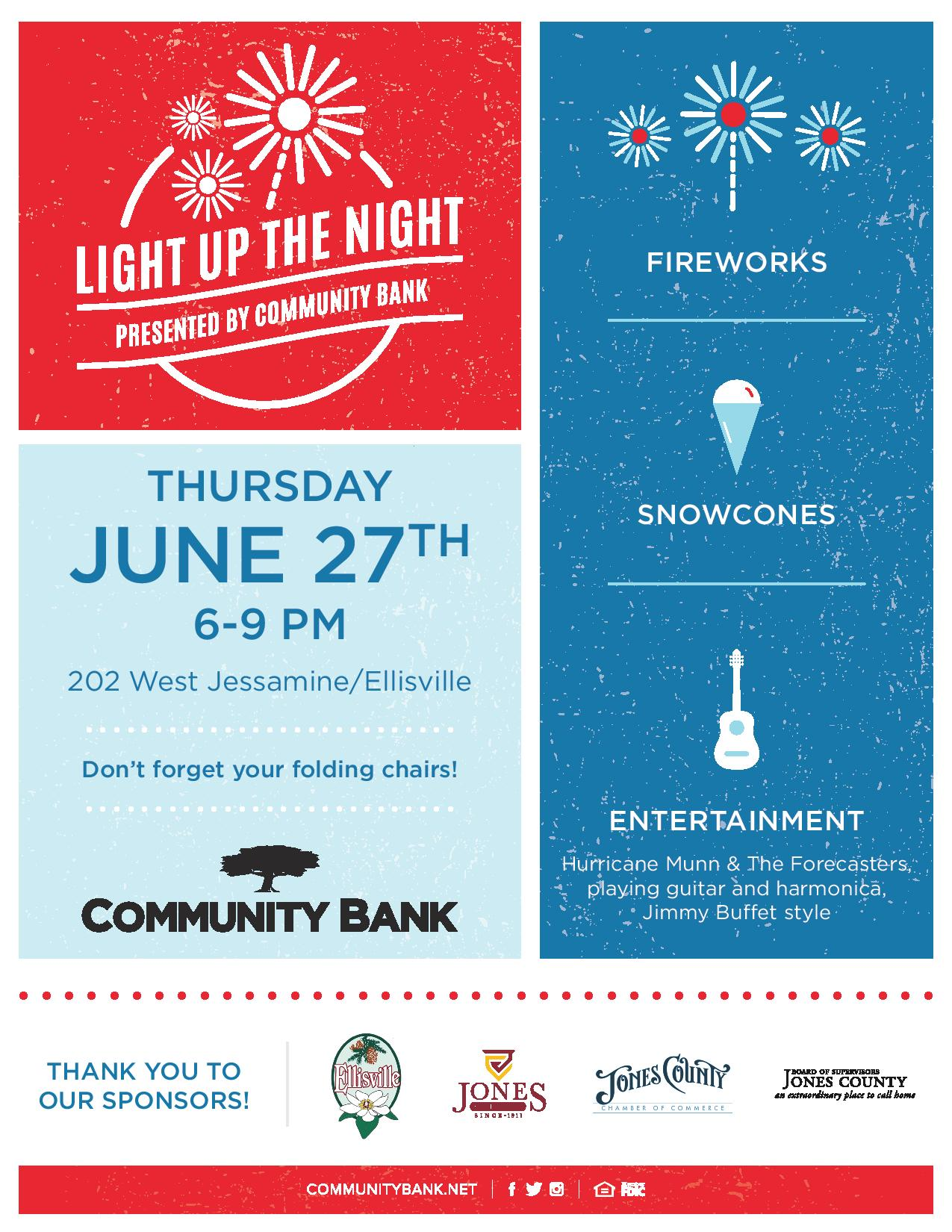 The City of Laurel, Light up the Night   Presented by Community Bank