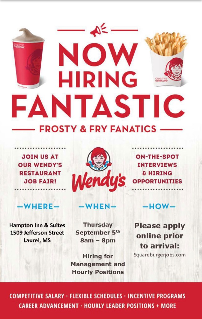 The City of Laurel, Wendy's/Carlisle Hiring Event