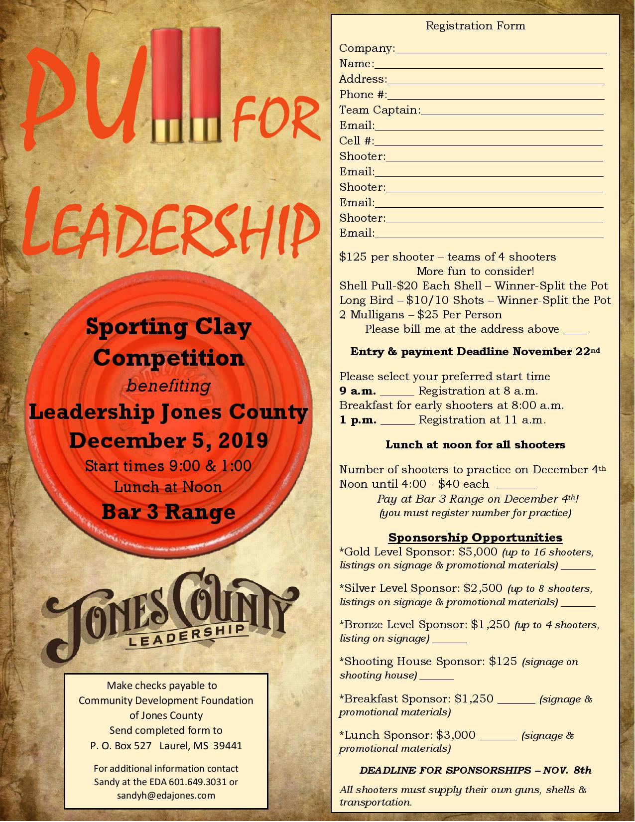 The City of Laurel, Pull for Leadership Sporting Clay Competition benefiting Leadership Jones County