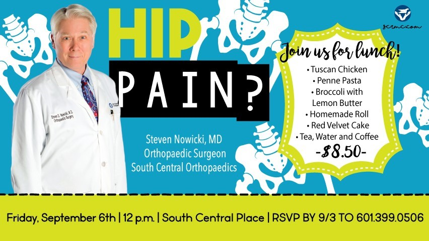 The City of Laurel, SCRMC – Suffering from Hip Pain?