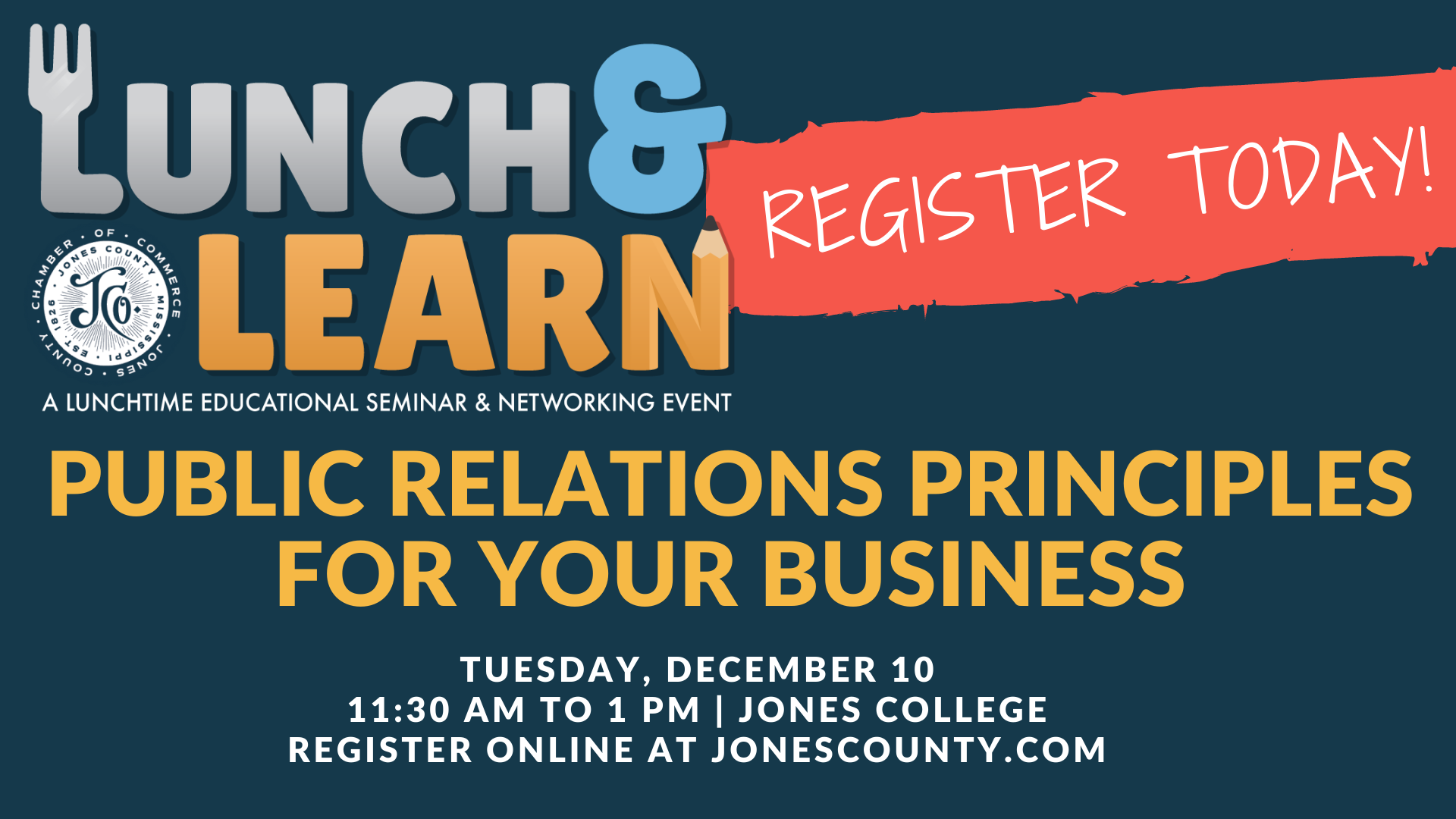 The City of Laurel, Lunch & Learn: Public Relations Principles for Your Business
