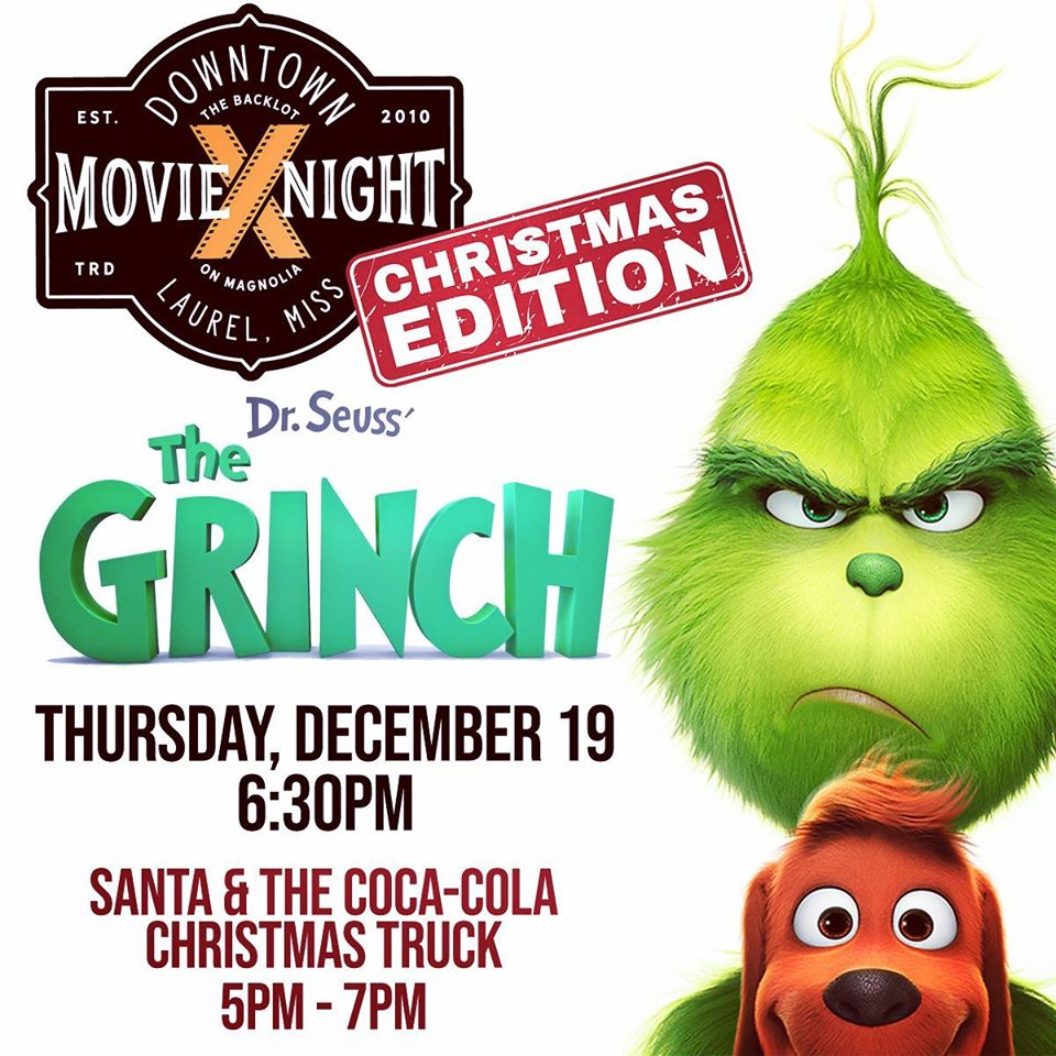 The City of Laurel, Downtown Movie Night: The Grinch with Santa & The Coca-Cola Christmas Truck