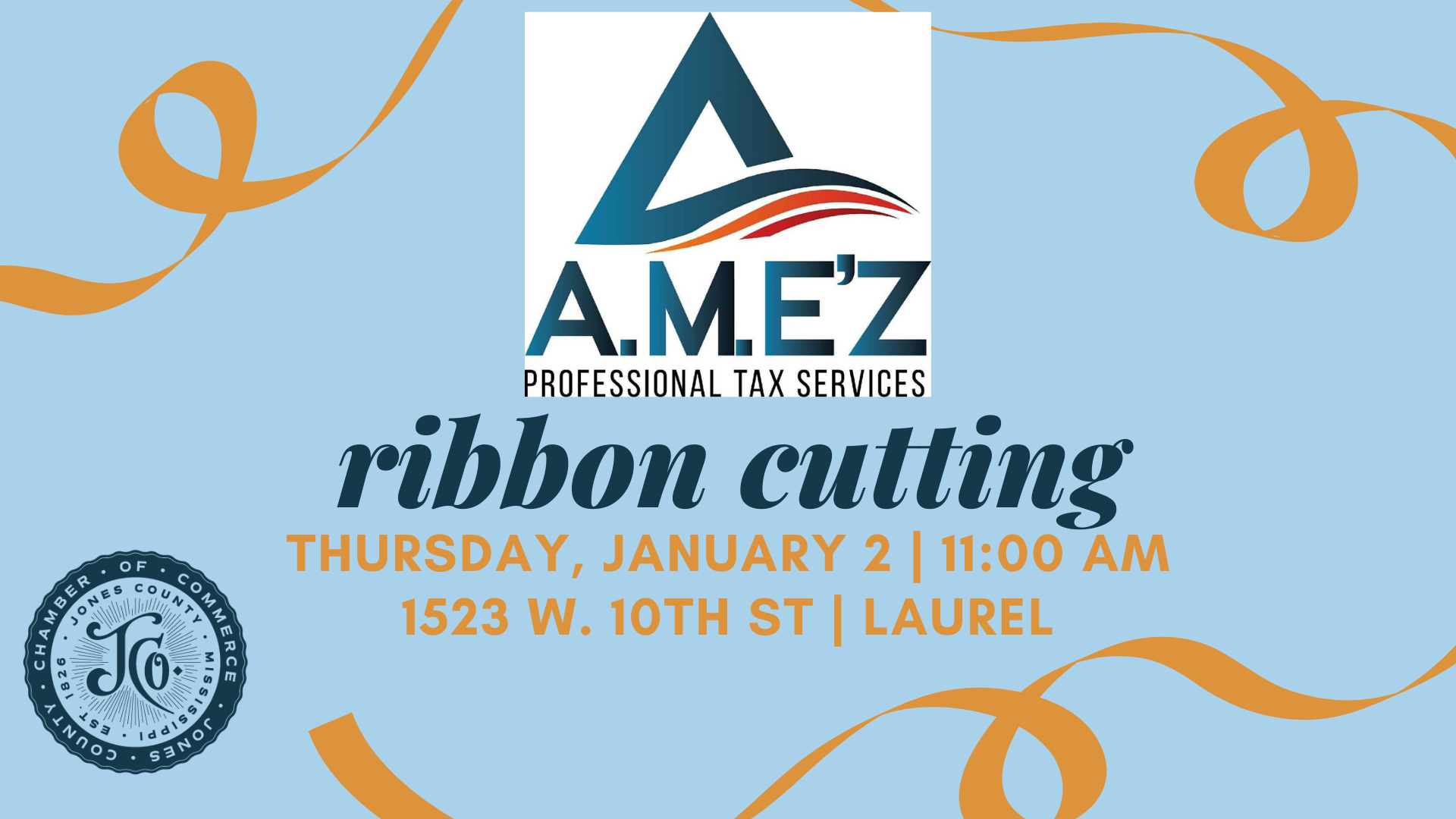 The City of Laurel, A.M. E'Z Professional Tax Services  Ribbon Cutting