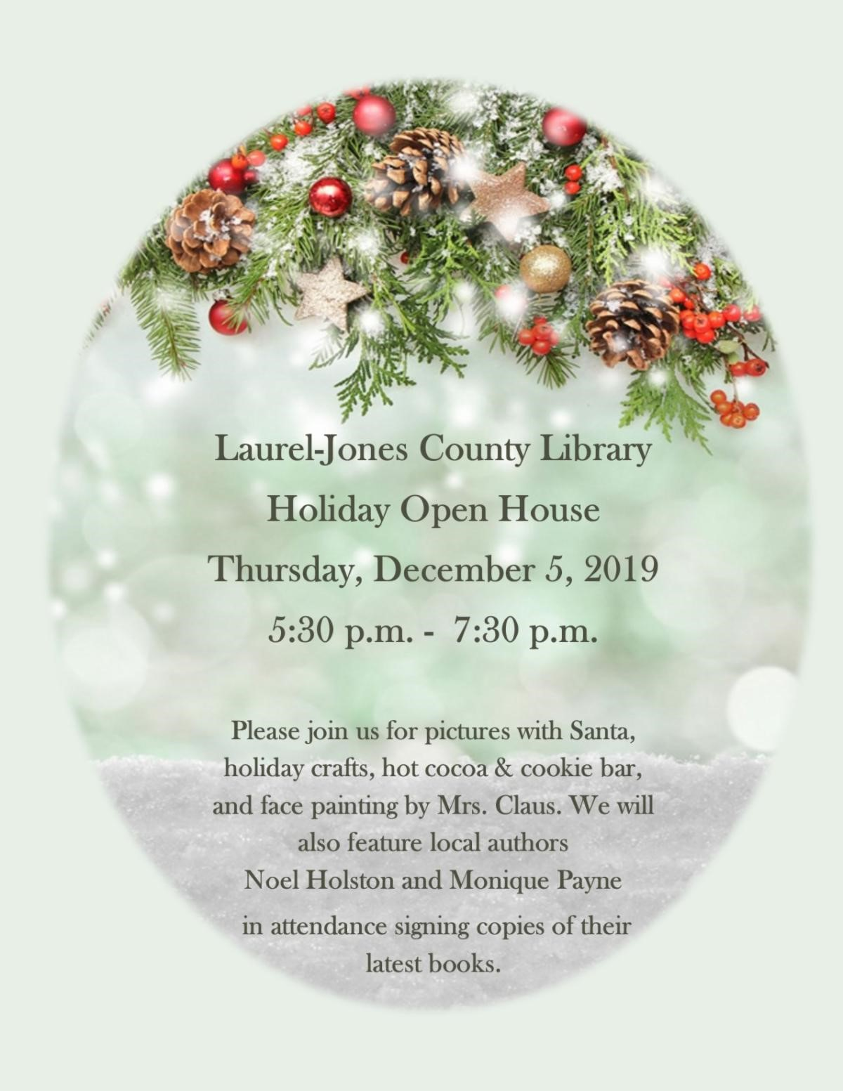 The City of Laurel, Laurel-Jones County Library Holiday Open House