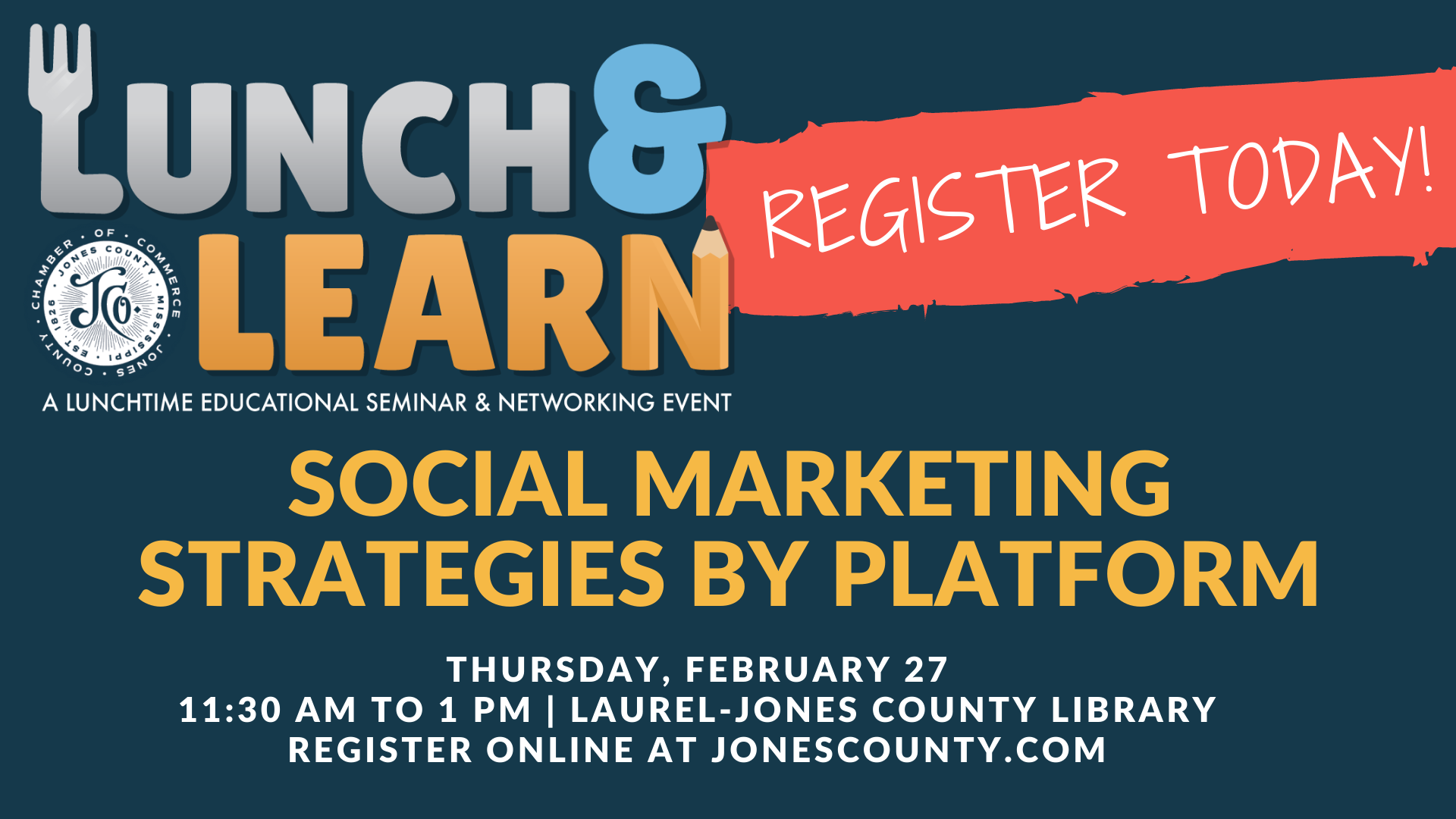 The City of Laurel, Lunch & Learn: Social Marketing Strategies by Platform