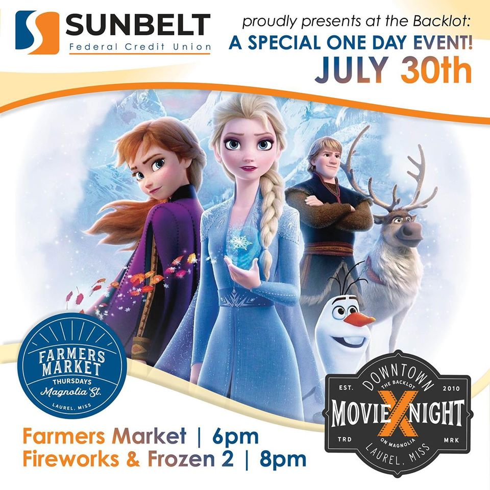 The City of Laurel, Downtown Thursday: Farmers Market & Movie Night