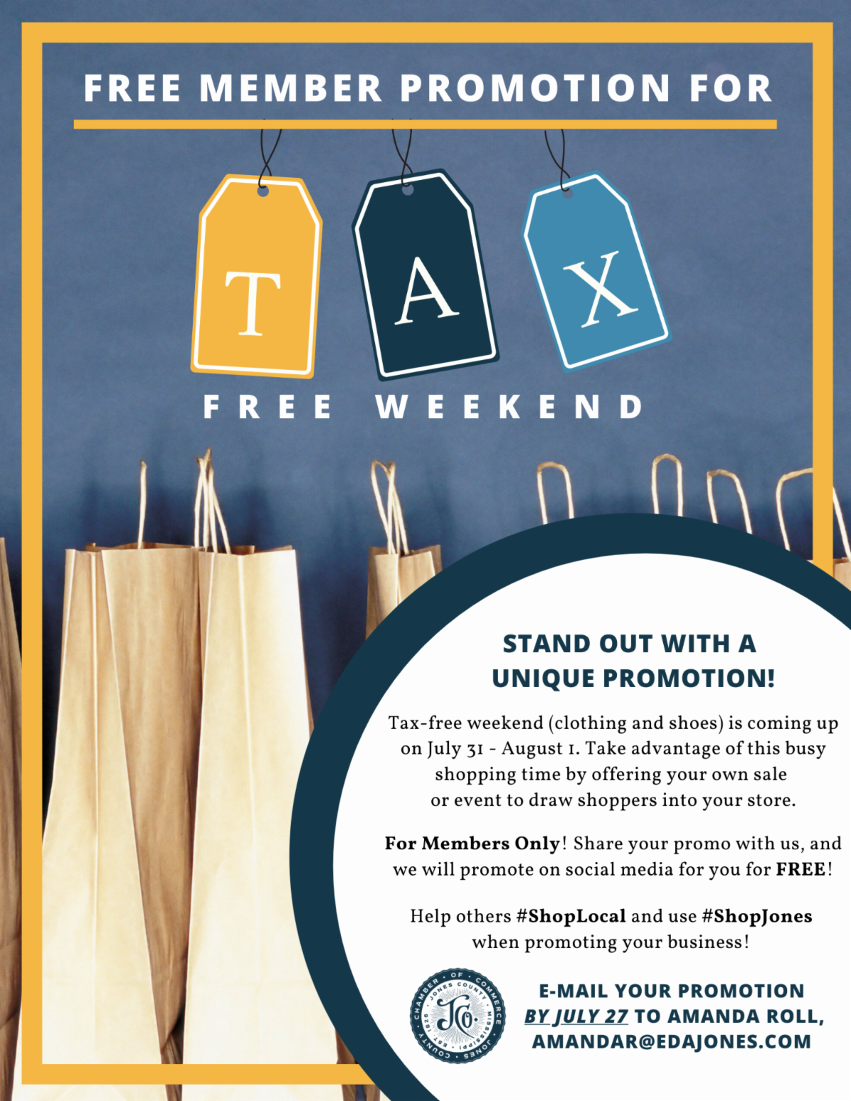 The City of Laurel, Tax Free Weekend
