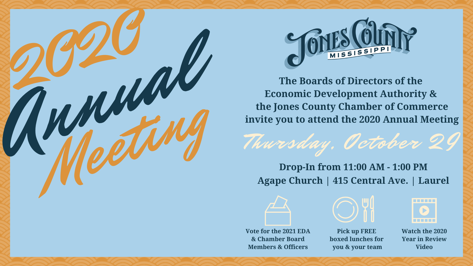 The City of Laurel, EDA of Jones County & Jones County Chamber of Commerce Annual Meeting