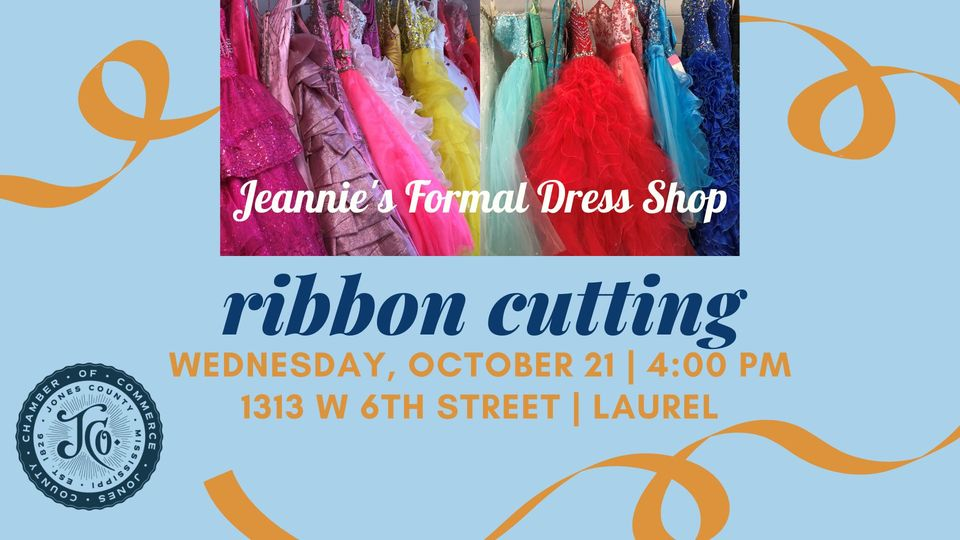The City of Laurel, Ribbon Cutting – Jeannie's Formal Dress Shop