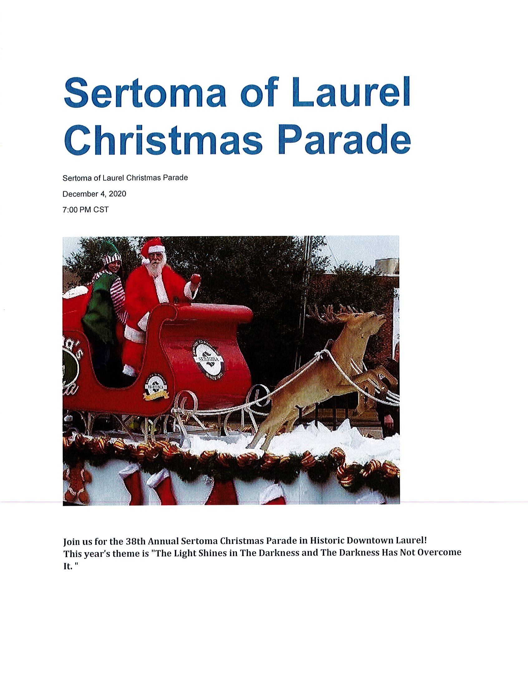 The City of Laurel, Sertoma of Laurel Christmas Parade