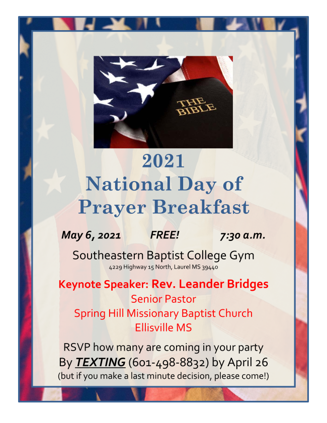 The City of Laurel, 2021 National Day of Prayer Breakfast